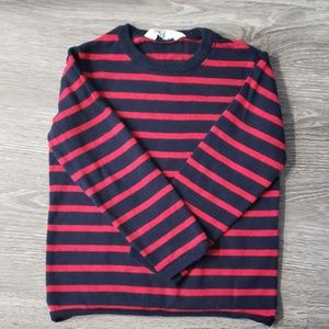 Red and Navy Striped Sweater